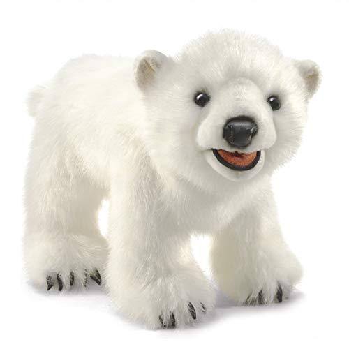 Folkmanis Dedo marioneta Oso Polar y Cachorro
