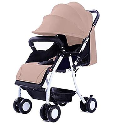 Baby Stroller Carrito de bebé portátil Ultraligero Puede Sentarse/reclinable Coche Paraguas Plegable Simple (Color : Color Cafe)
