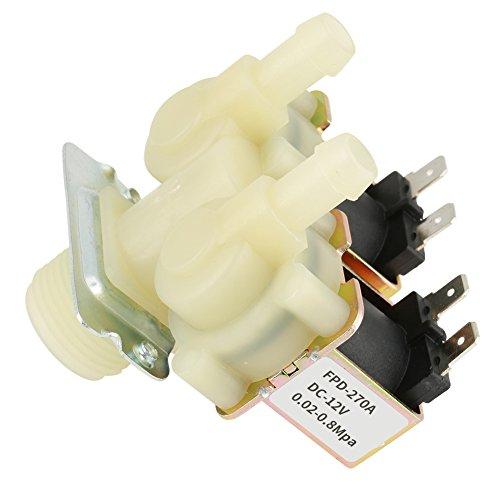 Waschmaschinenwasserventil aus Kunststoff + Messing 0-40°C geeignet für Wasserzufuhr Wasserzulaufventil für Waschmaschine