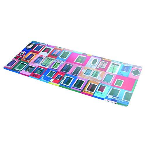 LogiLink ID0167 3-in-1 Notebook Mauspad (Reinigungstuch, Monitorschutz), Abmessung: 305 x 130mm Bunt