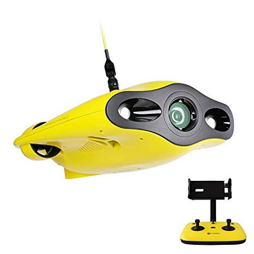 XIAOKEKE Cámara De Dron Submarino, Dron Submarino Full HD 1080P con Cámara De Visualización En Tiempo Real, Control Remoto De La Aplicación, Tamaño De La Palma De La Mano Y Estuche Portátil
