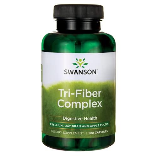 Swanson Tri-Fiber Complex Digestive Health Bowel Regularity Heart Colon Health 100 Capsules