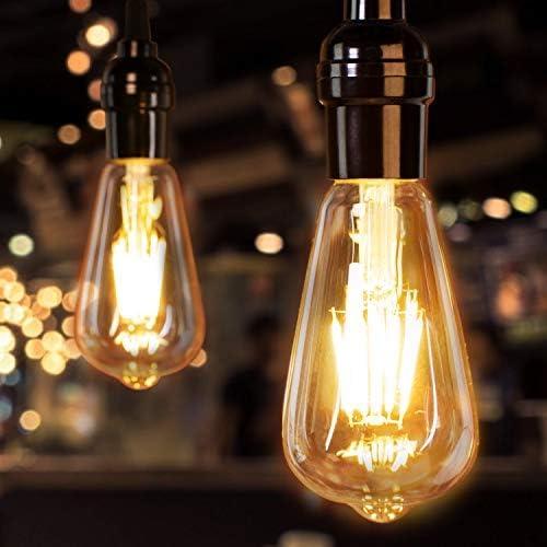 Led Edison Bulb Dimmable 10 Pcs 60 Watt Equivalent E26 Base Vintage Led Filament Bulb 6W Amber product image