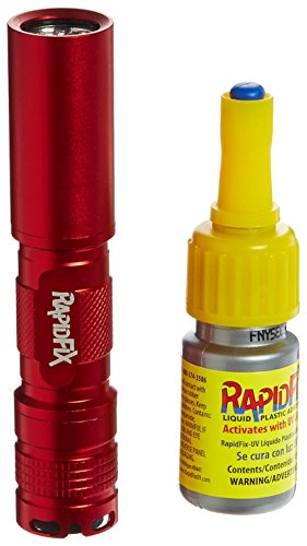 RapidFix UV Liquid Plastic Adhesive with UV Flashlight