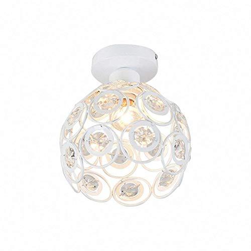 Plafonnier Moderne Industriel Luminaire en Métal, Suspensions Lustres Abat-Jour Blanc Lampe de plafond E27 éclairage Décoration (20cm)