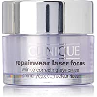 Clinique Repair Wear Laser Focus - Crema reparadora antiarrugas, contorno de ojos,15 ml