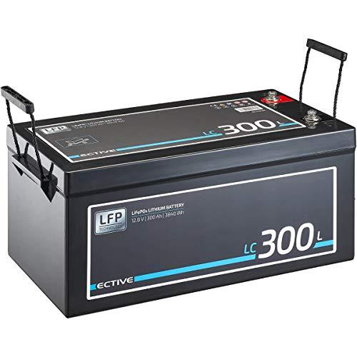 ECTIVE LC300L 12V 300Ah 3840 Wh LiFePO4 Lithium-Eisenphosphat Versorgungs-Batterie mit BMS