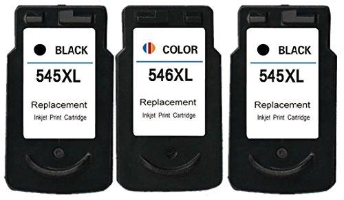 Printing Pleasure 3 XL Druckerpatronen für Canon Pixma MG2450 MG2550 MG2550S iP2850 MG2950 MG3050 MX495 MG2400 MG2455 MG2555 MG2555S MG3051 TS3151 | kompatibel zu PG-545XL (PG545XL) CL-546XL (CL546XL)