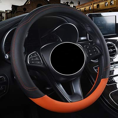 LCZCZL Fundas de rueda de coche para P-e-u-g-e-o-t todos los modelos 4008 RCZ 308 508 301 301 307 2008 3008 206 408 5008 607 (color: negro y naranja, tamaño: libre)