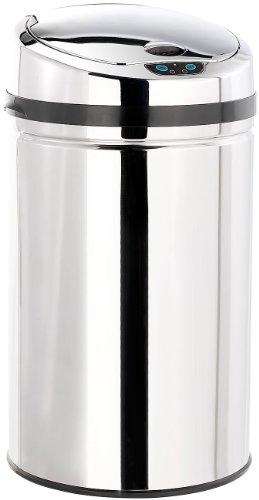 infactory Automatische Abfalleimer: Abfalleimer mit Hand-Bewegungssensor und Edelstahl-Korpus, 30 Liter (Sensor Abfalleimer)