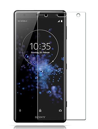 case & glass 1 Unidad de Protector de Pantalla Premium 2.5D Cristal Vidrio Templado 9H Sony Xperia XZ2 Premium