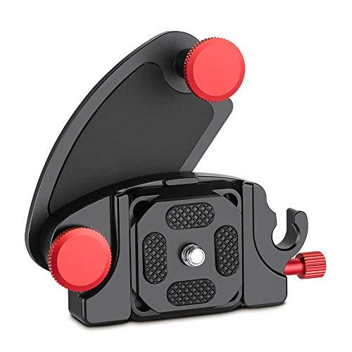Gobesty Gürtelclip Kamera, Kamera Gürtel Clip Aluminiumlegierung Schnellverschluss Clip Kameraclip mit 1/4 Kamerahalterung für DSLR Canon Canon Nikon Sony Universeller Kamerahalter