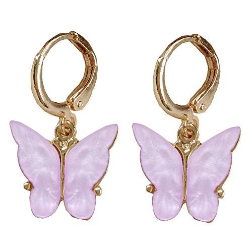 Pendientes Mujer Moda Mujer Pendientes De Gota De Mariposa Pendientes Dulces Joyería Fashion-B