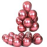 Feelairy Globos Metálicos, 50 Piezas Globos de Helio de Color Metal Brillante Globos Cromo Globos Cromados Vintage Decoración para Cumpleaños, Bodas, Baby Showers y Navidad