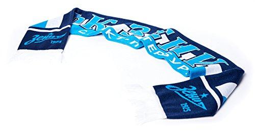 FC Zenit St. Petersburg Club Scarf, Blue/White Stripes