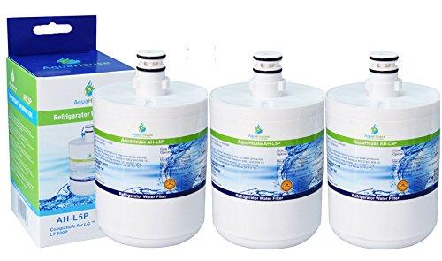 3x AquaHouse AH-L5P filtro de agua compatibles para LG LT500P, 5231JA2002A, GEN11042FR-08, ADQ72910901, Premium