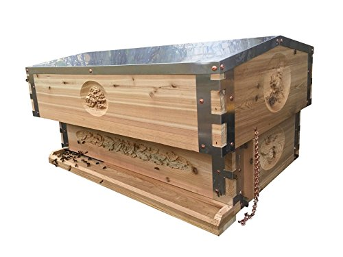 Bee Sanctuary Horizontal Langstroth Beehive (Aluminum Accented, With...