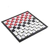 JINSUO GWTRY Hips Resistentes al Desgaste plástico de Alto Impacto Material Rojo Blanco Rojo de Color Negro Rejilla 100 inspectores internacionales Juego Estudiante del ajedrez