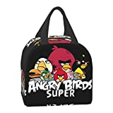 An-gry Birds Lunch Box, Insulated Lunch Bag, Oxford Tote Reusable Lunch Containers Cooler Bag Portable Lunchbox for Work Picnic Boating Beach Fishing