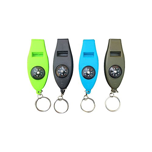 Zhi Jin 1Pc Portable Sighting Pocket Compass Direction Lensatic Compass Keychain for Camping Hiking
