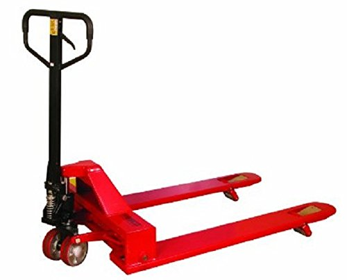 Wesco 273400 4-Way Pallet Truck with Handle, Polyurethane Wheels, 4,000 lb. Load Capacity, 47' Height, 48' Length x 33' Width