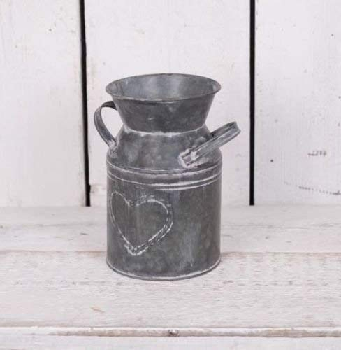 Homes on Trend Brocca di Latte da Vaso di Fiori Vintage in Stile Shabby Metal