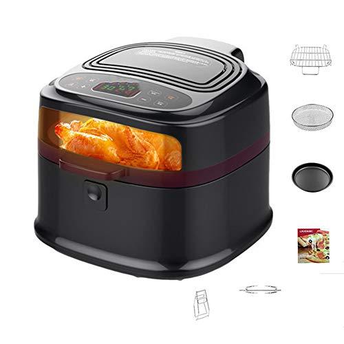 Air friteuse, 1200 watt oven zonder verwarming pan, met een digitale LCD-scherm, non-stick koekenpan, recept, acht liter om al uw bakken te voldoen