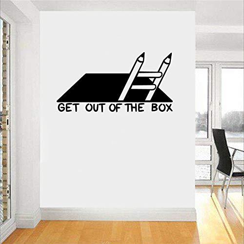 Bonita caja pegatinas de pared a prueba de agua para la habitación de los niños decoración del hogar pegatinas de pared decoración impermeable A9 57x29cm
