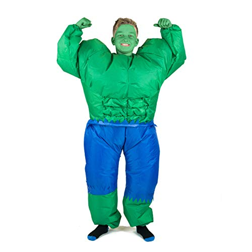 Bodysocks Opblaasbare Hulk Kostuum (Kinderen)