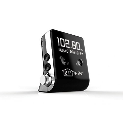 THOMSON CT390zeigt schwarz–Radio (Uhr, FM, MW, 87,5–108MHz, LCD)