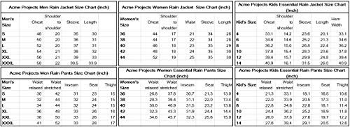 41AvFOG7U1L - Acme Projects Rain Suit (Jacket + Pants), 100% Waterproof, Breathable, Taped Seam, 10000mm/3000gm, YKK Zipper