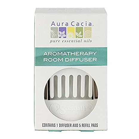 Aura Cacia Aromatherapy Room Diffuser 1 Diffuser 5 Refill Pads Aroma Diffusers Beauty