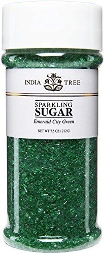India Tree Emerald City Green Sparkling Sugar, 7.5 Ounce