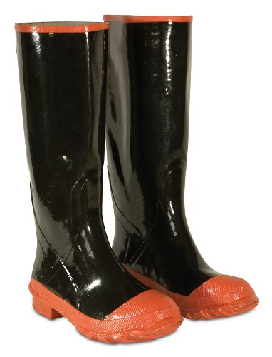 CLC Custom Leathercraft Rain Wear R21008 Red Sole and Toe Rubber Boot, Size 8