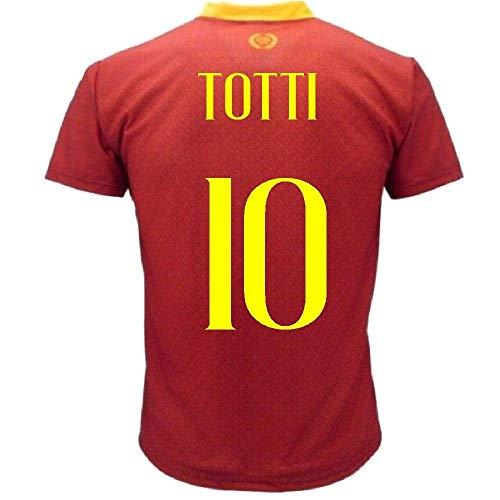 L.C. SPORT SRL Maglia Totti As Roma Personalizzata Maglietta Replica 2018 2019 PS 27730Totti-8 Anni