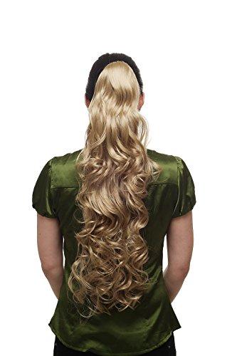 WIG ME UP - Extension natte queueu de cheval avec pince-papillon: très longue bouclée volume blonde T118-24