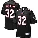 NFL PRO LINE Men's Jamal Anderson Black Atlanta Falcons Retired Player Jersey
