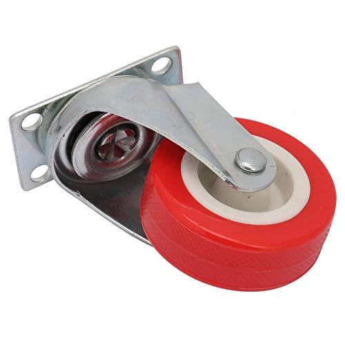 Anti-corrosion 4 pièces 2 pouces roulette pivotante roulette roulette rouge pour chaises de bureau pour meubles