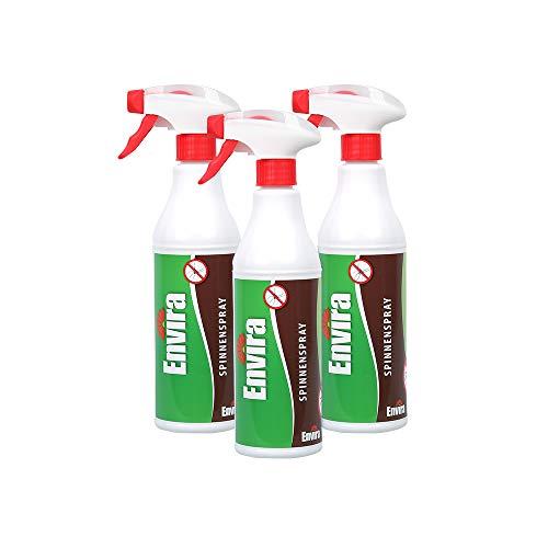 Envira Spinnen-Spray - Anti-Spinnen-Mittel Mit Langzeitwirkung - Geruchlos & Auf Wasserbasis - 3x500ml