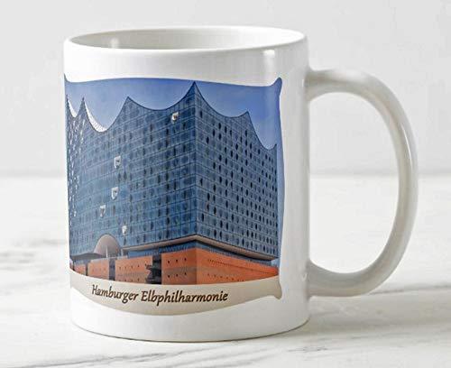 Exklusiver Hamburger Kaffee Becher - Motiv: Die Elbphilharmonie in der Hafen City Hamburg - Tassen/Fotos / Bilder/Souvenirs