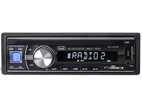 Trevi Scd 5702 Bt Autoradio con USB, SD, Aux-In, Bluetooth, USB Fast Charge per Ricarica Veloce Smartphone, 30W, Nero