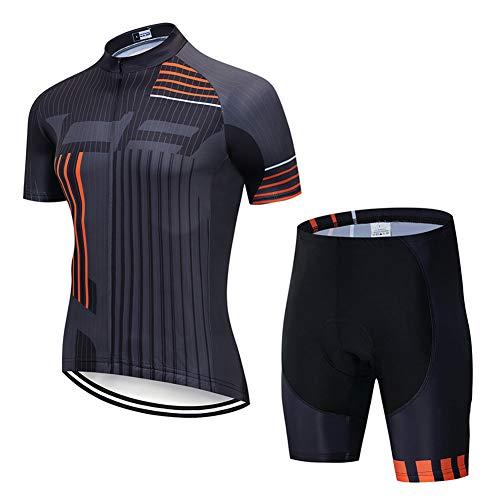 Hplights Traje Ciclismo Hombre para Verano, Ciclismo Maillot Y Culotte Ciclismo Culote...