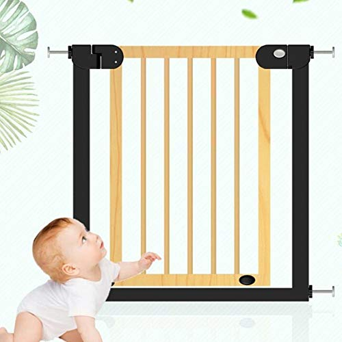 WUFENG-Barrière de sécurité Safety 1st Easy Install Auto Close Walk Thru Gate Mount Pressure Mount Baby Gate for Stairs Hallways Doors, Metal, Height 77cm (Color : A, Size : 104-111cm)