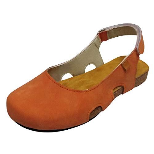 Bfmyxgs Damen Herbst Einzelne Schuhe RöMer Schuhe rutschfeste Komfort Vintage Sandalen Schuhe Zuhause Sandalen Damen Schuhe Herbst Gartenschuhe Gummistiefel Damen