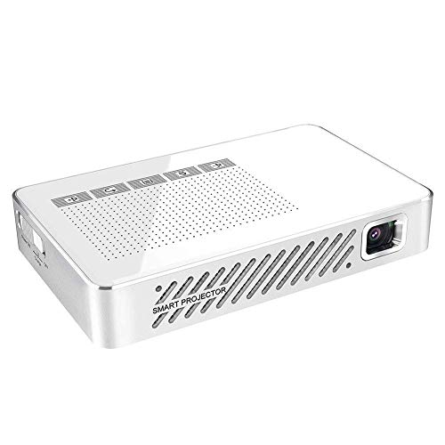 WYJW Mini videoproiettore, Mini proiettore 2000 Lm Sistema Android7.1 Bluetooth 4.0 Supporta 4G/5G WiFi/2Gb/16Gb RAM/Rom per Home Theater