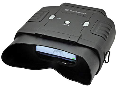 Bresser digitaal binoculair nachtzichtapparaat 3 x 20 met groot display voor comfortabel kijken dag en nacht met geïntegreerde 7-traps infraroodverlichting inclusief transporttas