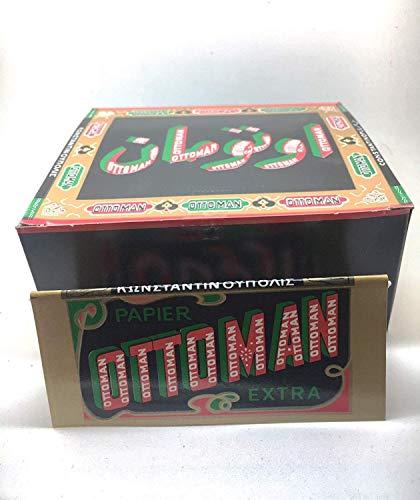 1600 CARTINE OTTOMAN EXTRA LUNGHE KS IN PAPIRO 50 LIBRETTI CH. DRAGONIS DA 32 1 BOX
