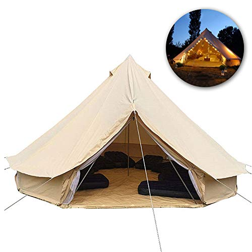 DASGF Outdoor Waterdicht Vier Seizoenen Familie Camping Bell Type Tent, Geweldig Ruim, Buiten Bruiloft Tent, Katoen Warm Hotel Tent, 500X500cm