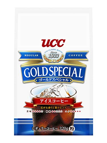UCC ゴールドスペシャルアイスコーヒー コーヒー豆 (粉) AP 320g