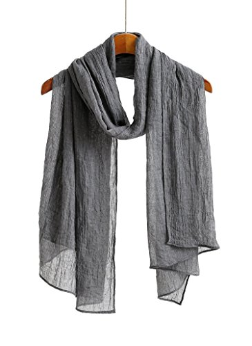 Jeelow Scarf Shawl Wrap Soft Lightweight Scarves And Wraps For Men And Women (Dark Gray)